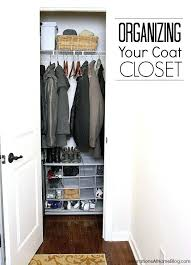 tackle the often cluttered and disorganized coat closet with a little help organization ideas deep coat closet organization