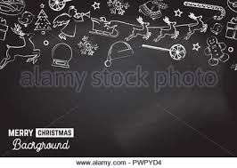 Seamless Pattern With Xmas Icons Merry Christmas Background Vector