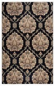 rizzy home cau 3 3 x5 3 area rug black