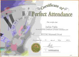 Brilliant Ideas Of Perfect Attendance Certificate Template With