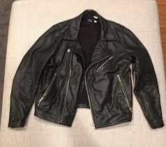 levi s made crafted off road italian leather jacket in black men s sz 3 1 of 6 see more