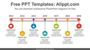 Powerpoint History Line Belt History Powerpoint Diagram For Free