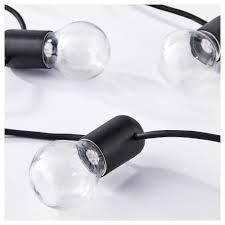 Svartrå Led Lichtsnoer Met 12 Lampjes Zwart Buiten