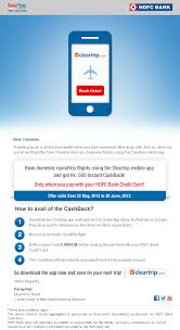 Get a flat discount of rs.500 or rs.1,000 on booking domestic flight tickets through major travel booking platforms: Hdfc Bank Mailers On Behance
