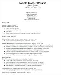 Format For Teacher Resume Putasgae Gorgeous Teaching Resumes