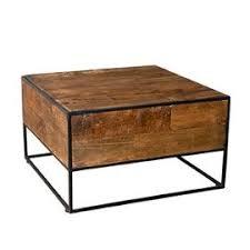 Table D'appoint Carrée 60 Cm En Teck Recyclé Et Métal - Appoline
