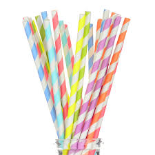 Amazon Com Pack Of 200 Paper Straws Party Decoration Striped