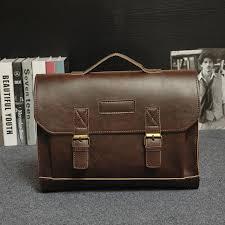 new luxury leather business men s briefcase male fashion shoulder bag men messenger cross tote computer handbag hot briefcases briefcases new