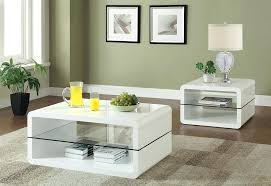 white coffee and end table sets coaster white round coffee table wood legs