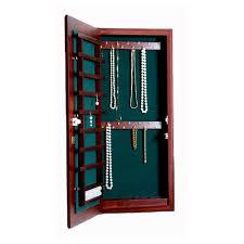 Small Wall Mounted Jewelry Cabinet  Keyed Lock Image Wall Mounted Jewelry Cabinet S64