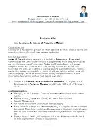 Format For A Resume Adorable Manager Resume Format Procurement Accounts Finance Pdf R