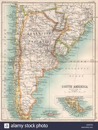Sud America. Repubblica Argentina Cile Uruguay. Bartolomeo, 1904 Mappa  antichi Foto stock - Alamy