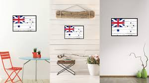 australian white ensign city australia country flag vintage canvas print with black picture frame home decor on home decor wall art au with australian white ensign city australia country vintage flag home