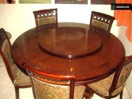revolving dining table round
