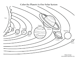 Solar System Coloring Pages Free Printable For Kids Page