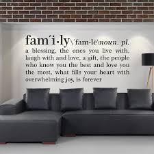 family definition wall decal dictionary