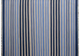 blue saphire stripes 100 cotton dhurrie rug hand woven in india locally blue