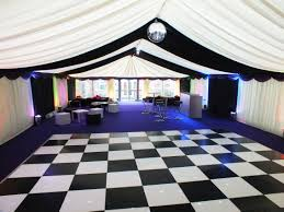 Black And White Flooring Marquee With Black And White Dance Floor