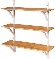 kamiler floating shelves bamboo