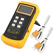 digital thermometer chemistry. signstek 6802 ii dual channel digital thermometer with 2 k-type thermocouple sensor probe for bga rework hvac 1300°c 2372°f chemistry