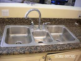 16 gauge stainless steel kitchen sink top mount new 43 triple basin stainless steel sink elkay
