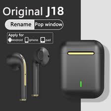 <b>Original J18 Tws</b> Bluetooth Earphones Touch Pop-up True Stereo ...