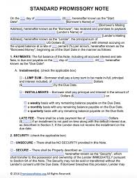 Promissory Note Word Template Free Download Promissory Note Photo Free Promissory Note