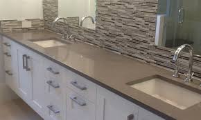 quartz countertops concrete colored quartz bathroom countertop by adp surfaces in orlando florida