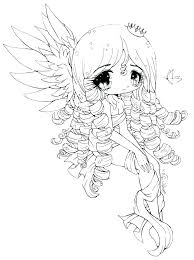 Chibi Coloring Page Cute Anime Girls Coloring Pages Coloring Pages