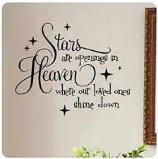 Heaven Quotes Enchanting Stars Are Openings In Heaven Where Our Loved Ones Shine Down Wall