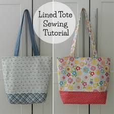 Tote Bag Pattern Magnificent Free Lined Tote Bag Sewing Tutorial Prints To Polka Dots Blog