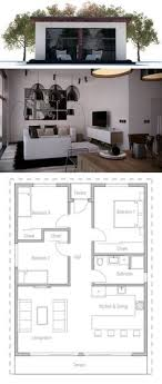 Small Picture Floor Plan for a Small House 1150 sf with 3 Bedrooms and 2 Baths
