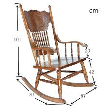 vintage wooden rocking chair carved oak wood living room furniture antique relax swing arm styles chairs