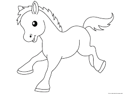 Small Picture Pony Baby animals coloring pages for kidsFree Printable Coloring