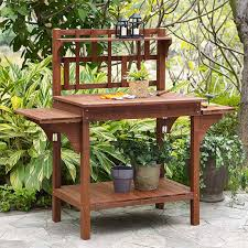 appealing potting bench with storage c coast halstead outdoor wood potting bench with storage