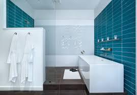 glass tile bathroom with blue glass tile bathroom bathroom contemporary and white soaking bathtubs