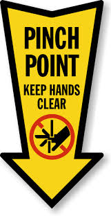 Tranparent Labels Pinch Point Labels Nip Pinch Point Safety Labels