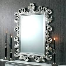 silver gilt wall mirror ornate french vintage