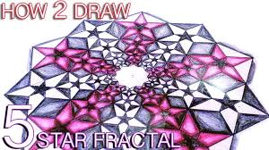 How To Draw A Geometrical Chart How To Draw Fractals Golden Ratio Star Pattern Sacred Geometry Tutorial