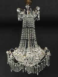 antique crystal and glass pearls french chandelier