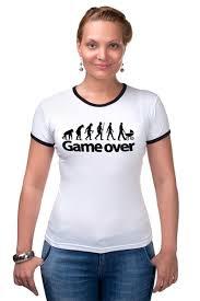 Футболка Рингер <b>Game Over</b> (Игра Окончена) #661475 ...