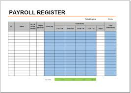 Free Payroll Register Template For Excel 2007 2016