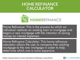 calculator refinance mortgage home refinance calculator