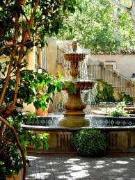 courtyard fountain with the spanish elements