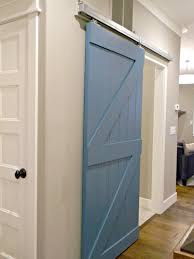 stunning diy custom wooden sliding barn door for in blue for interior door style with gray