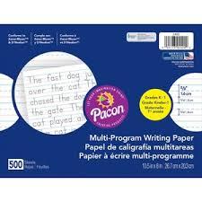 Pacon Calendar Weather Pocket Chart Pacon Multi Program Handwriting Papers Servmart
