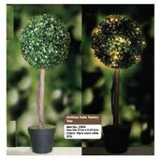 Pure Garden Topiary Solar Light Ball 20 White Led Lights Artificial Topiary Trees With Solar Lights