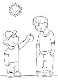 Small Picture Showing Kindness coloring page Free Printable Coloring Pages