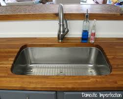 butcher block counter with undermount sink