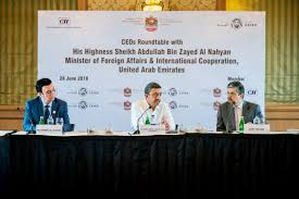 abdullah bin zayed has round table meeting with the top executives of major indian companies
